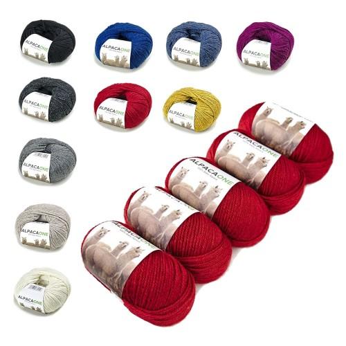 Alpacaone Baby Alpaca wool ball 50g or 5 pack, OEKO-TEX