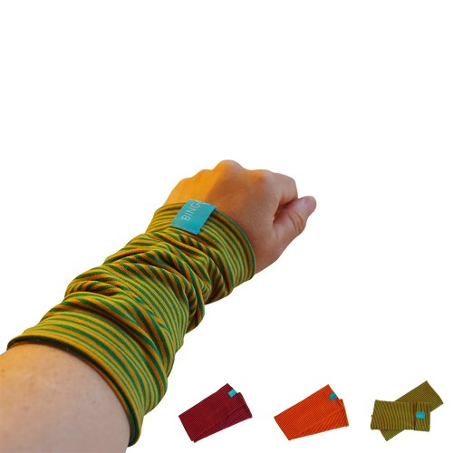 Fingerless Sleeves Striped Pattern organic cotton various colours | bingabonga