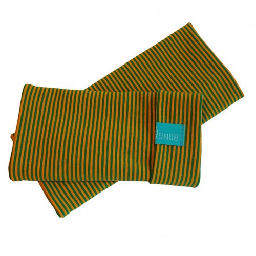 Fingerless Sleeves Striped Pattern organic cotton Yellow/Green | bingabonga
