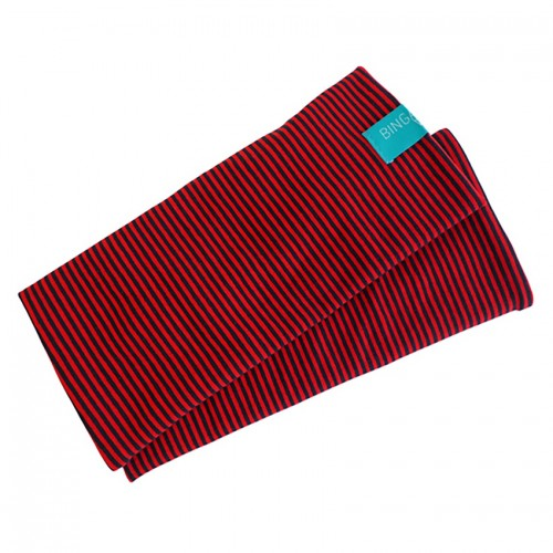 Fingerless Sleeves Striped Pattern organic cotton Navy/Red | bingabonga