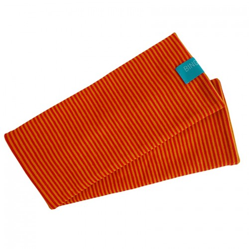 Fingerless Sleeves Striped Pattern organic cotton Red/Yellow | bingabonga