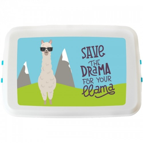 "Bioplastics Lunchbox ""Save the Drama for your llama"""