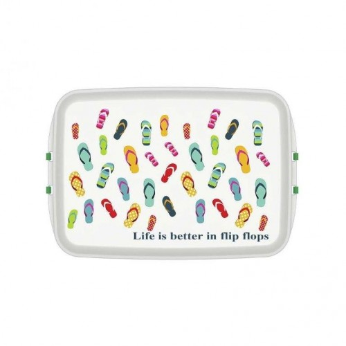 Lunchbox made of Bioplastics with Print Flipflop | Biodora