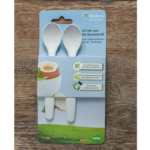 Baby Spoon & Egg Spoon made of bioplastic, 2 pack | Biodora
