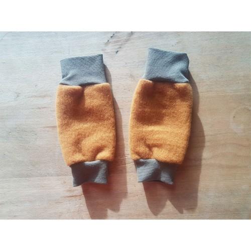 Baby Leg Warmers, Eco Wool Fleece, Amber | Ulalue