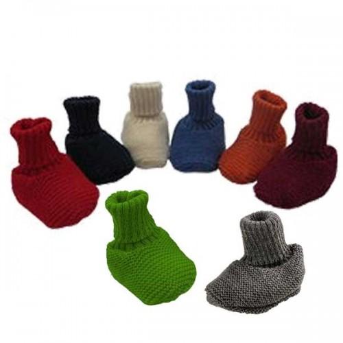 Baby Booties Plain Organic Wool | Reiff