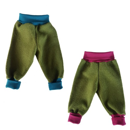 Eco Wool Broadcloth Baby Trousers - Baggy Trousers | Ulalue
