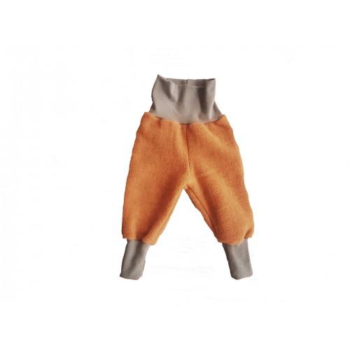 Organic Wool Fleece Baby Trousers Amber | Ulalue