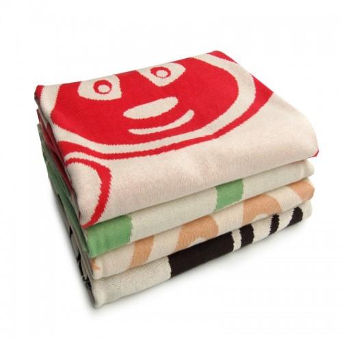 "Eco Baby Blanket ""Panda Bear"" of organic cotton"