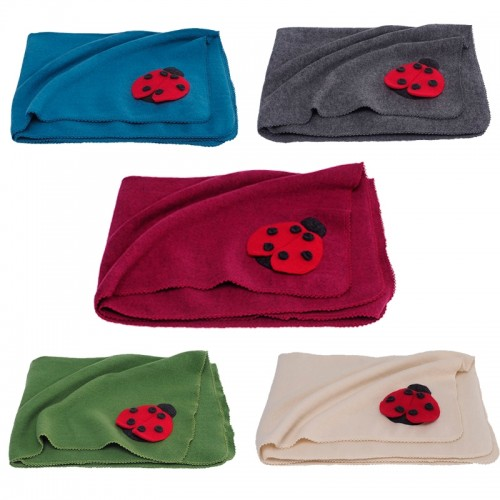 Eco fleece wraparound garment & baby blanket ladybird | Reiff