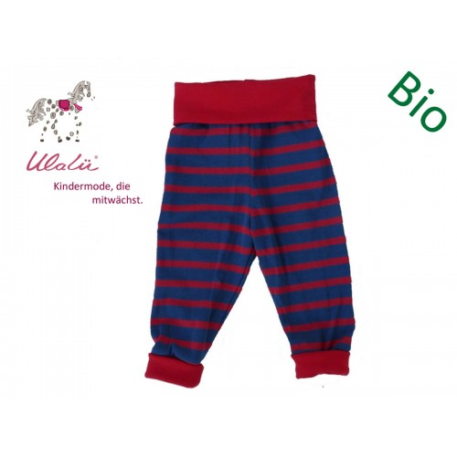 Baby Sweat Trousers with Cuffs, Organic Cotton, Maritime | Ulalue
