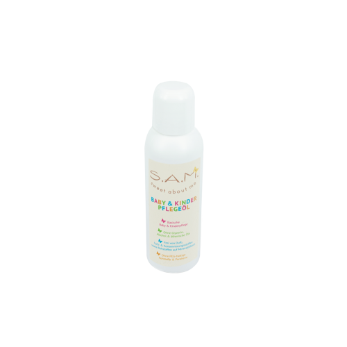 S.A.M. Nourishing Baby Oil with organic Almond oil, Apricot kernel oil