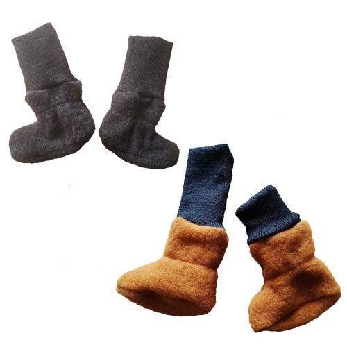 Organic Wool Fleece Baby Booties - warm shoes | Ulalue