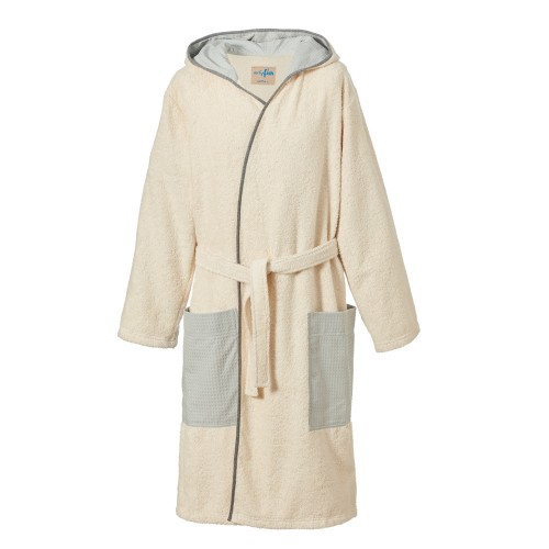 Men's Classic Nature Organic Terry Cotton Bathrobe with Hood | earlyfish