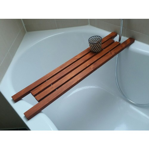 Bathtub Caddy Larch DESIGN from local wood | D.O.M.