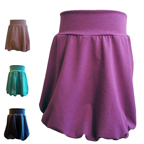 Plain-Coloured Bubble Skirt - Women's Tulip Skirt eco cotton | bingabonga