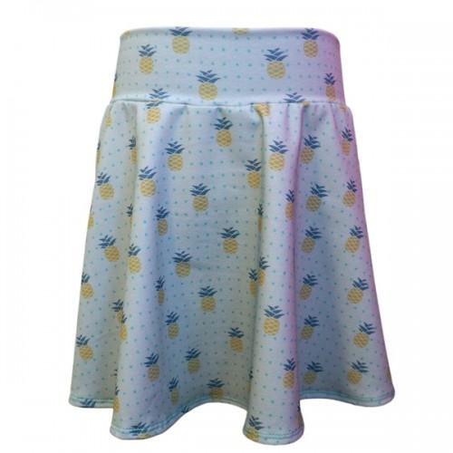 Organic Jersey Women's Circle Skirt Pineapple | bingabonga