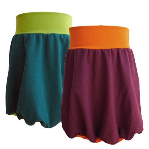 Bicoloured Girl's Bubble Skirt - organic jersey skirt | bingabonga