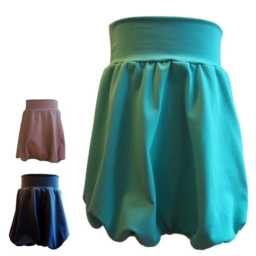 Plain Organic Cotton Girl's Bubble Skirt, Jersey Skirt | bingabonga