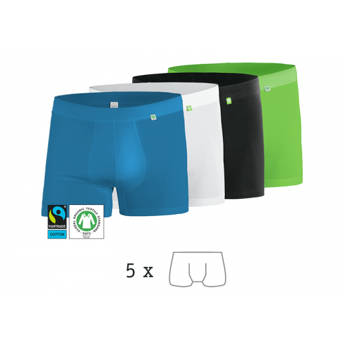 »Beatbux« Boxer 5 Pack, GOTS Organic Cotton | kleiderhelden