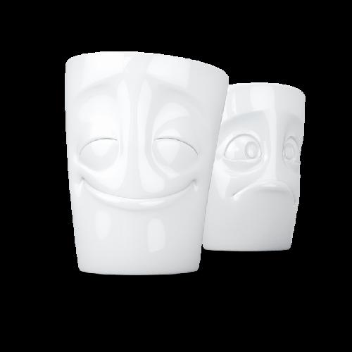 Porcelain Mug Set No. 2 Cheery & Baffled, white   58 Products