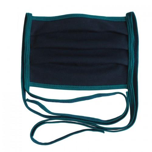 Reusable makeshift mask navy GOTS organic cotton | bingabonga