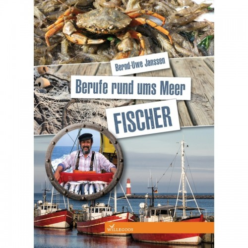Professions around the sea - FISHERMAN - hands-on book for children | Willegoos