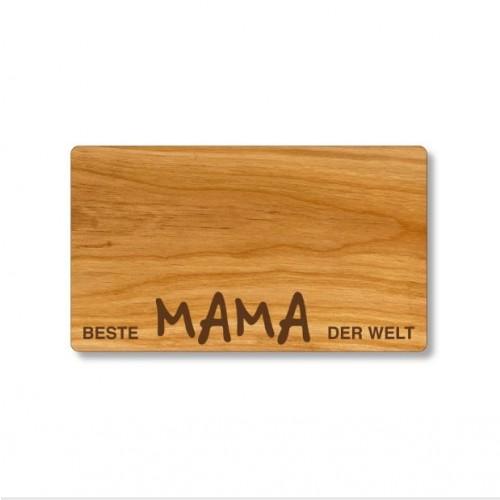 Cutting Board of cherry wood, German engraving Best Mum | Echtholz