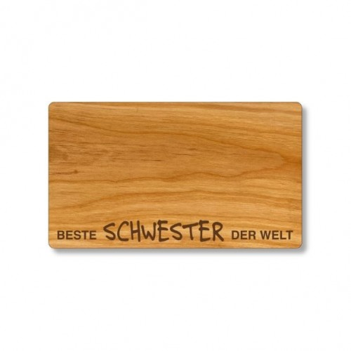 Cutting Board of cherry wood, German engraving Best Sister | Echtholz