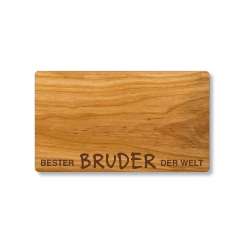 Cherry wood cutting board, German engraving Best Brother | Echtholz