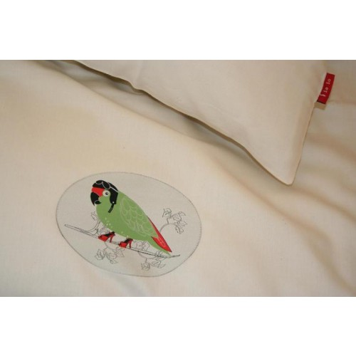 Early bird (parrot) bedding made of organic cotton | iaio
