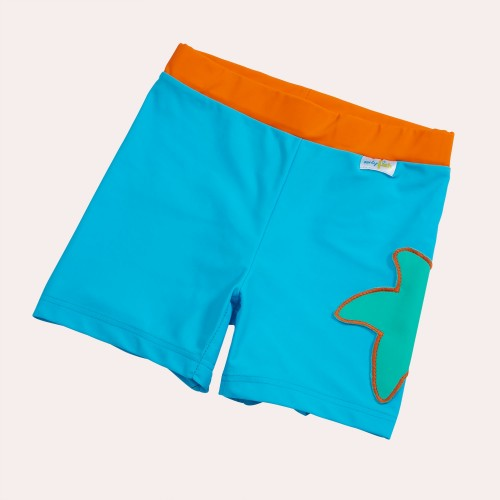 Girls Bikini Briefs Sea Blue - Starfish & UV Protection 50+