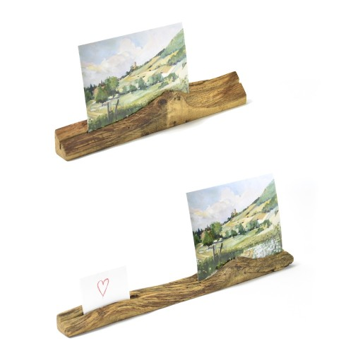 Upcycled photo stand made of oiled oak wood | reditum