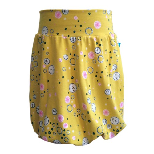 Girls bubble skirt of eco jersey patterned »abstract blooms«
