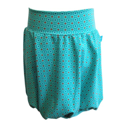 Sommer girl's bubble skirt of eco jersey - Starflowers