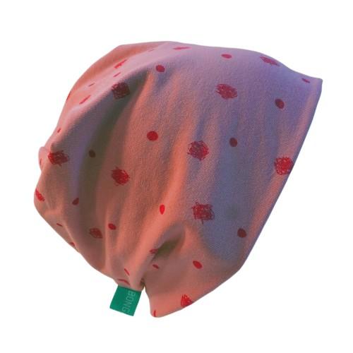 Pink Organic cotton Cap Scribbled Dots | bingabonga