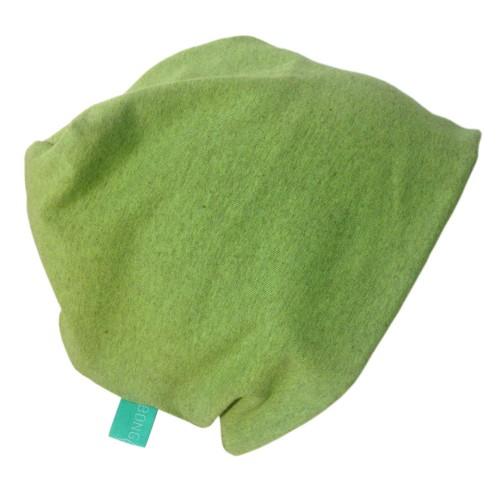 "Organic Cotton Cap ""Line"" plain Lime-Melange | bingabonga"