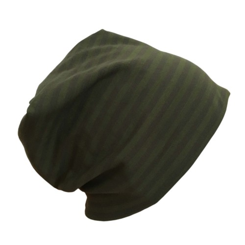 "Cap ""Line"" grey-moss ringed organic cotton 