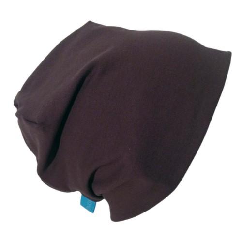 "Organic Cotton Cap ""Line"" in Chocolate Brown   bingabonga"