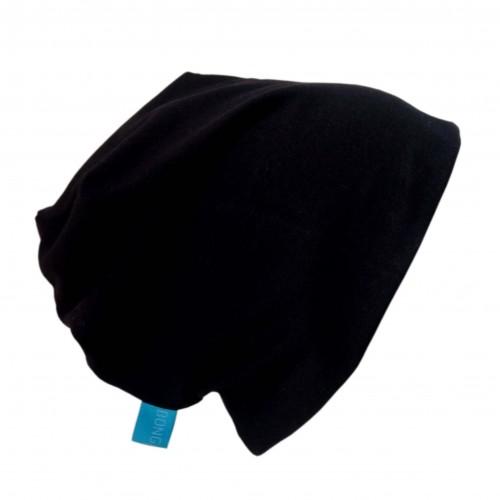 "Black GOTS Organic Cotton Cap ""Line"" | bingabonga"