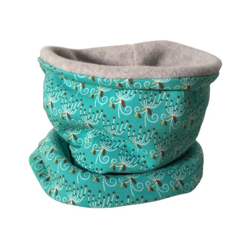 Bingabonga winter eco tube scarf Polly in Mint Green