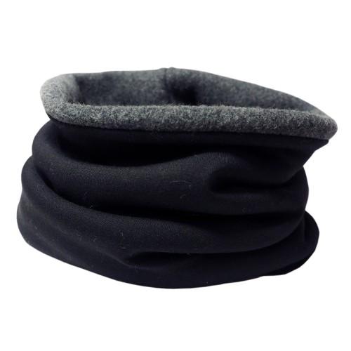 Winterproof Organic Loop Scarf Black/Anthracite | bingabonga