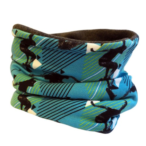Bingabonga winter eco cotton tube scarf Blue »Skating«