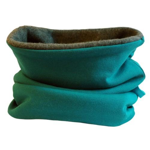 Winterproof Organic Loop Scarf Emerald/Anthracite | bingabonga