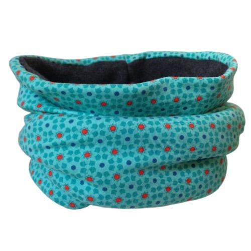 Bingabonga winter eco cotton tube scarf »Starflowers«
