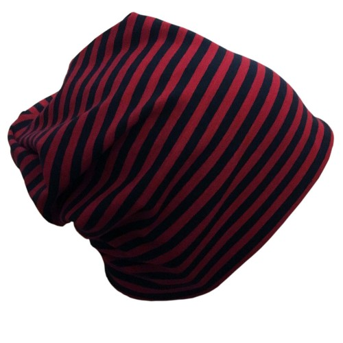 "Cap ""Line"" navy-red ringed organic cotton 