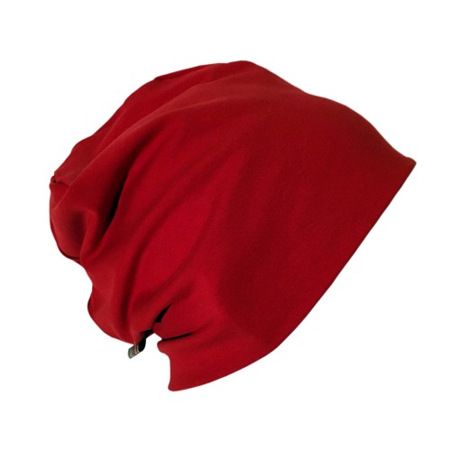 "Plain Red Organic Cotton Cap ""Line"" 