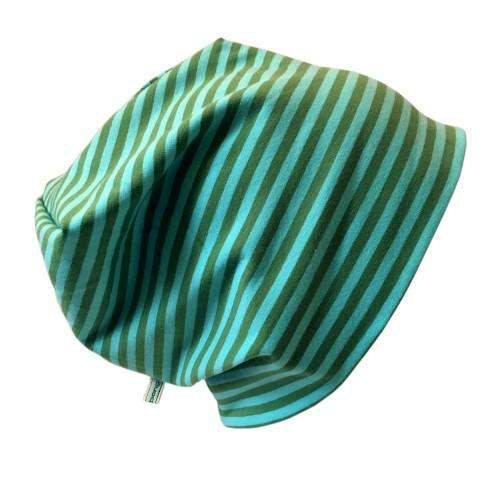 "Cap ""Line"" turquoise ringed organic cotton   bingabonga"