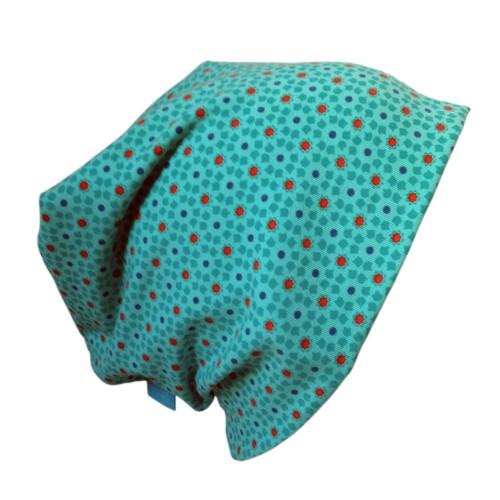 Turquoise Organic cotton Cap Starflowers | bingabonga
