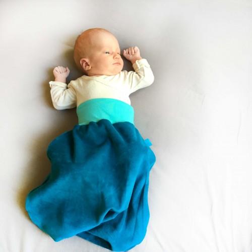 Swaddle blanket of GOTS organic cotton plush | bingabonga
